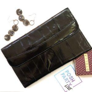 Vintage Black Eel Skin Wallet
